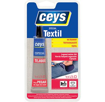 textil na tkaniny, lepidlo na textil, lepte namiesto šitia, ceys special textil,