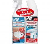 HG 1+1 zadarmo, 1+1 zdarma, Hygienický gel na toalety, Penový čistič vodného kameňa 3x silnejší